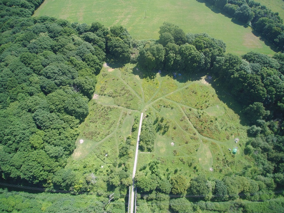 aerial view of the secret campsite near lewes