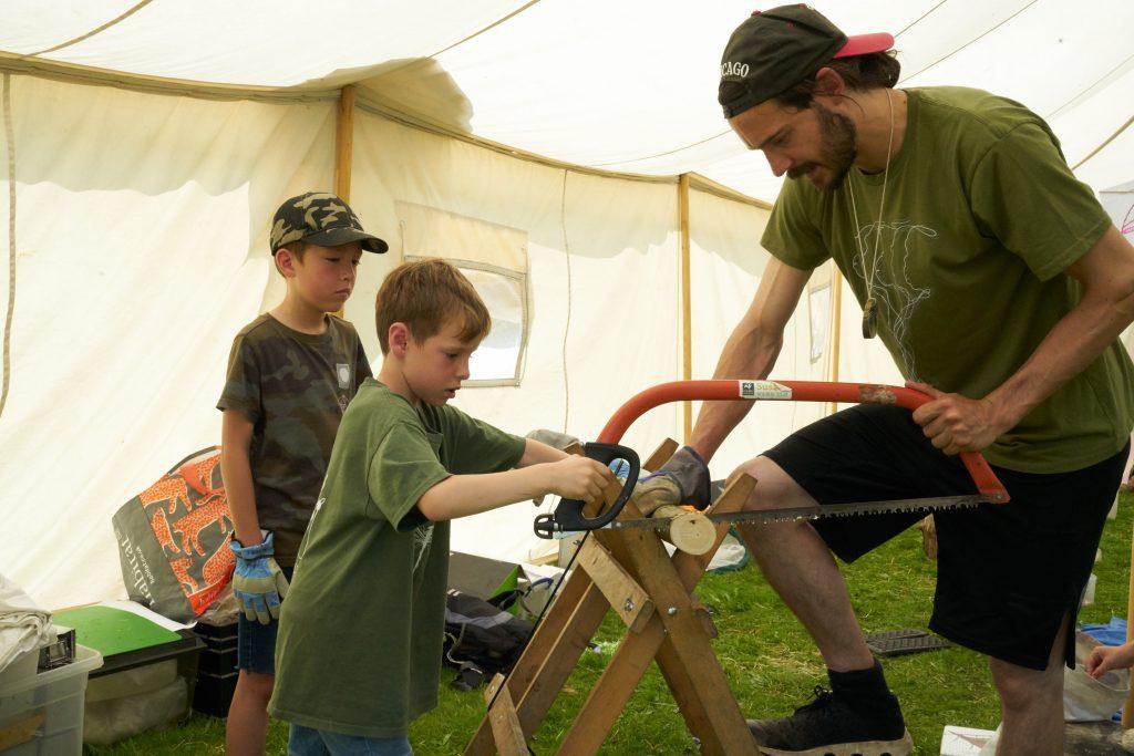forest school activities at the secret campsite