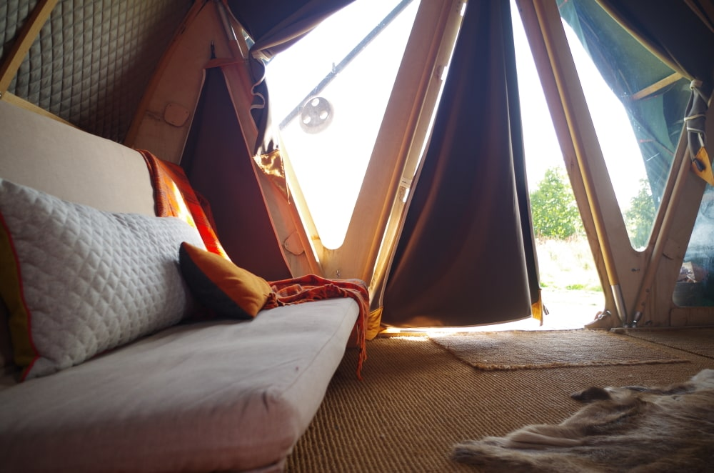 wild glamping in sussex at the secret campsite