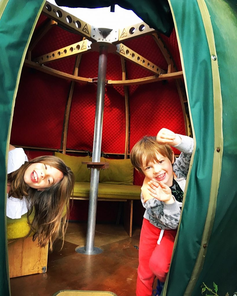 fun in the tree tent at the secret campsite