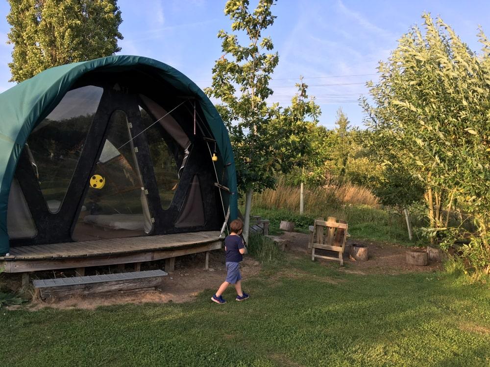 The Gridshell Secret Campsite