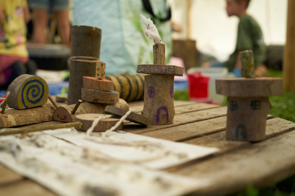 Bushcraft activities at the secret campsite wildlife festival near lewes
