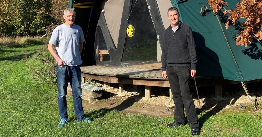 Councillor Adrian Ross visits the Secret Campsite Lewes