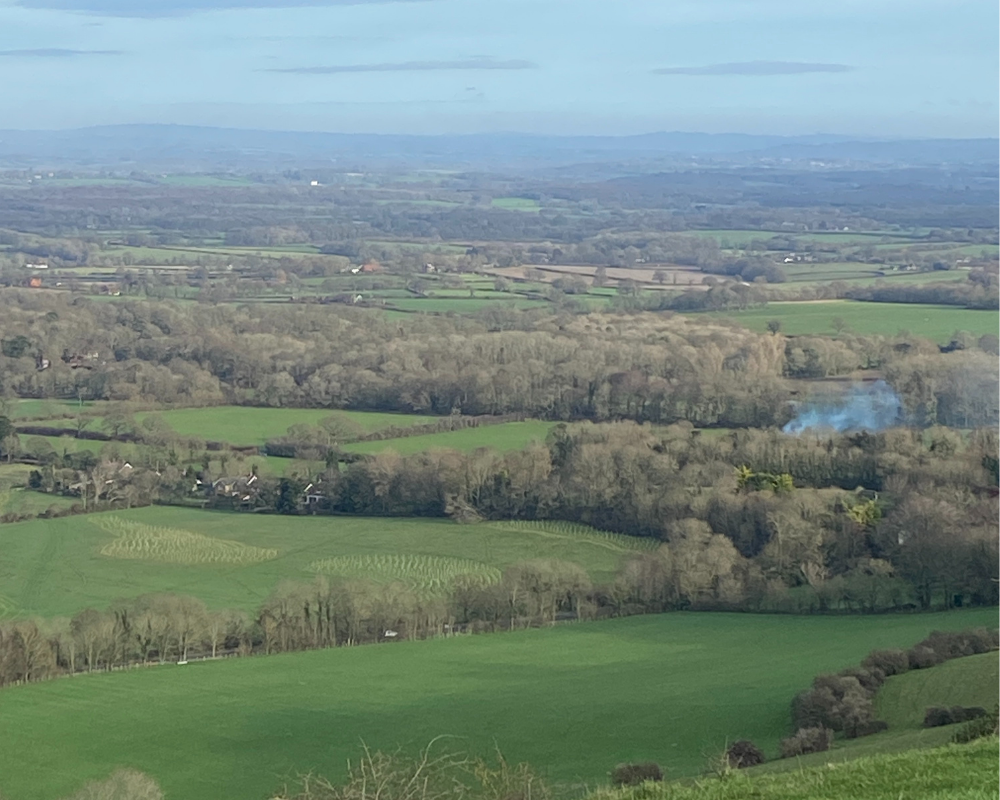 View over the South Downs at Plumpton