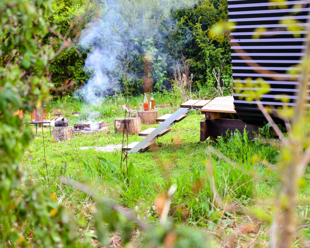 OKRA firepit at the Secret Campsite